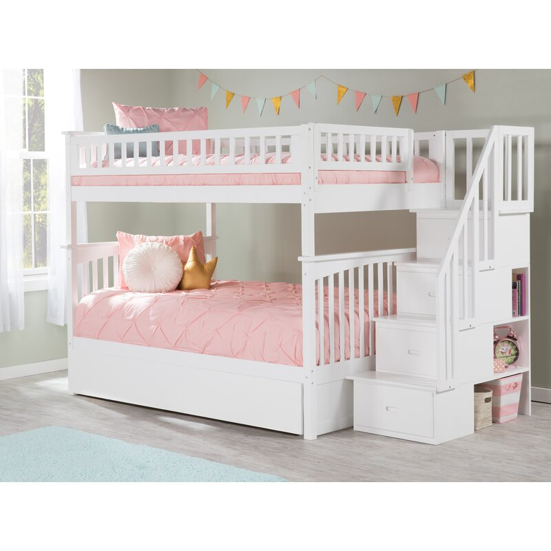 Harriet Bee Abel Staircase Full Over Full Standard Bed With Trundle