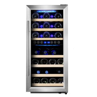 33 Bottle Dual Zone Freestanding Wine Cooler