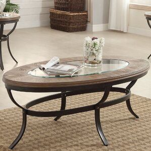 oval coffee table sets you'll love | wayfair