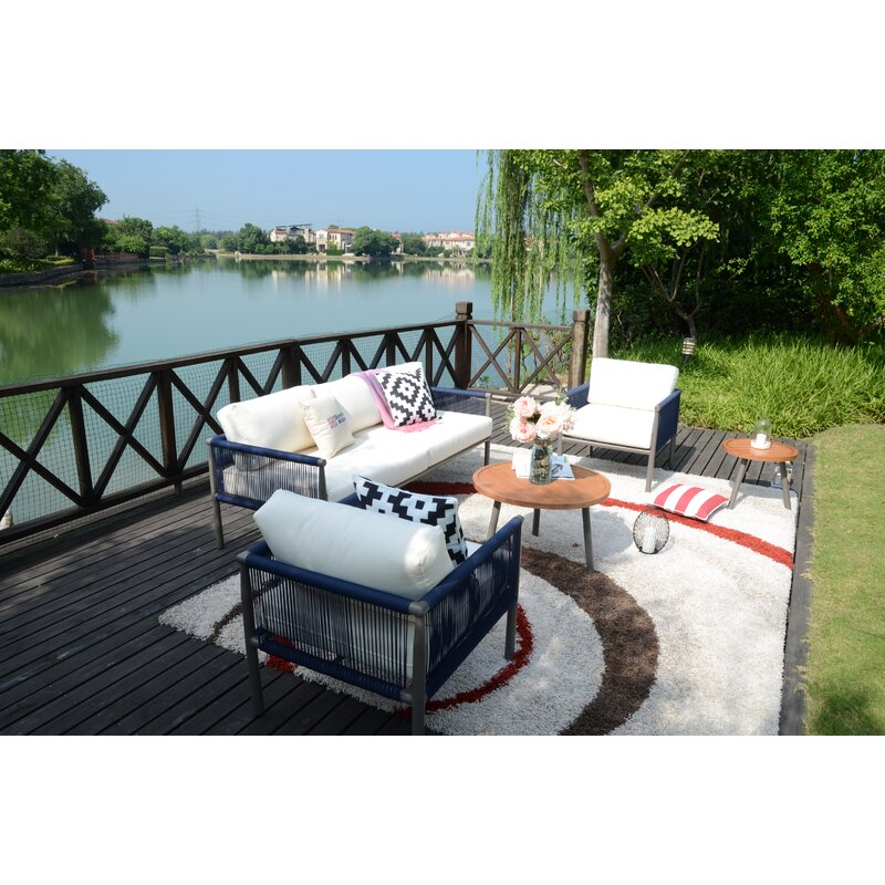 Newhaven 5 Piece Outdoor Conversation Set