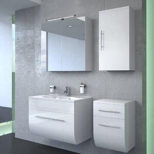 bad11® 70 cm Wandmontierter Waschtisch Ziva mit Spiegel und Armatur