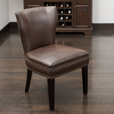 Genuine Leather Kitchen & Dining Chairs You'll Love | Wayfair