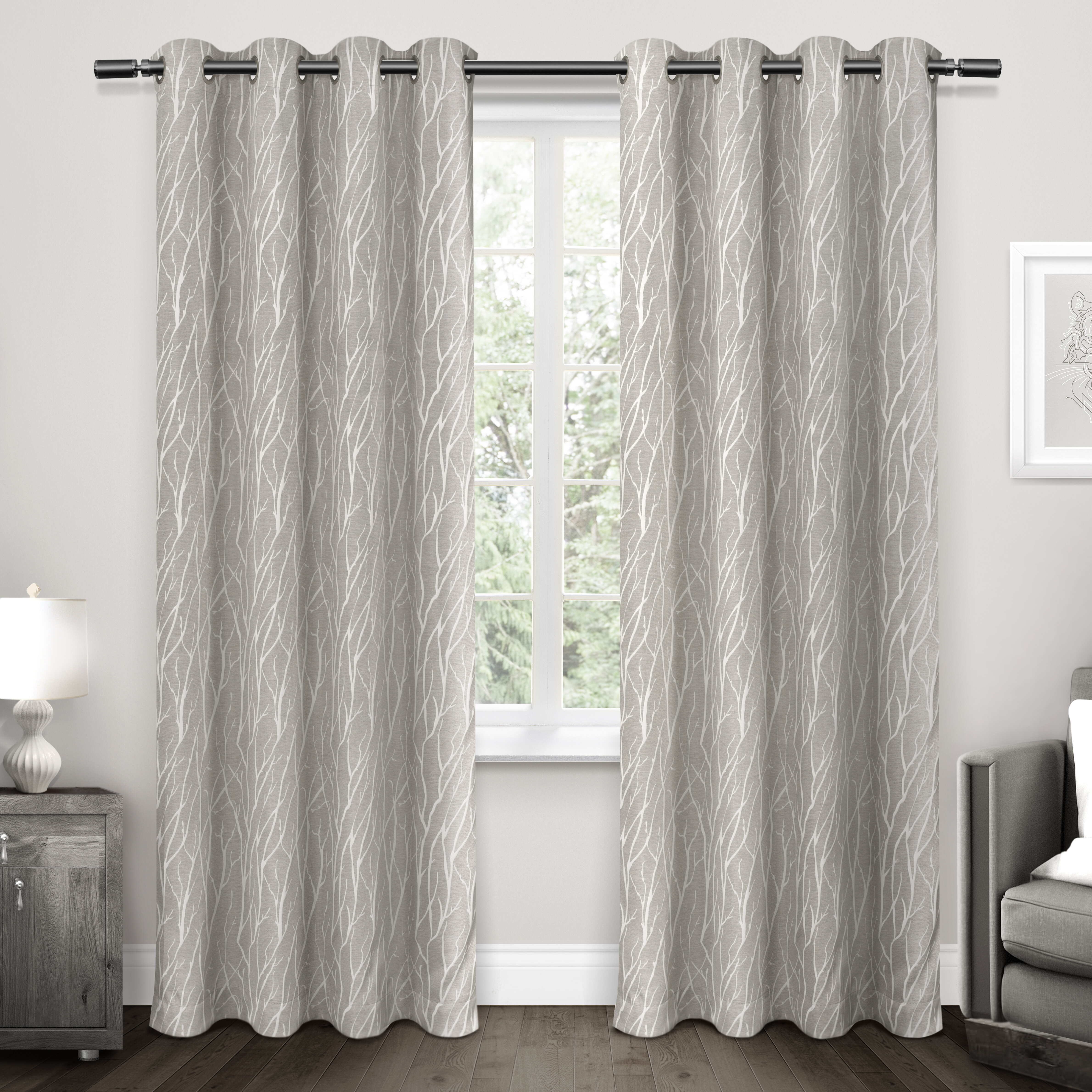 Darby Home Co Prower Blackout Grommet Curtain Panels & Reviews | Wayfair