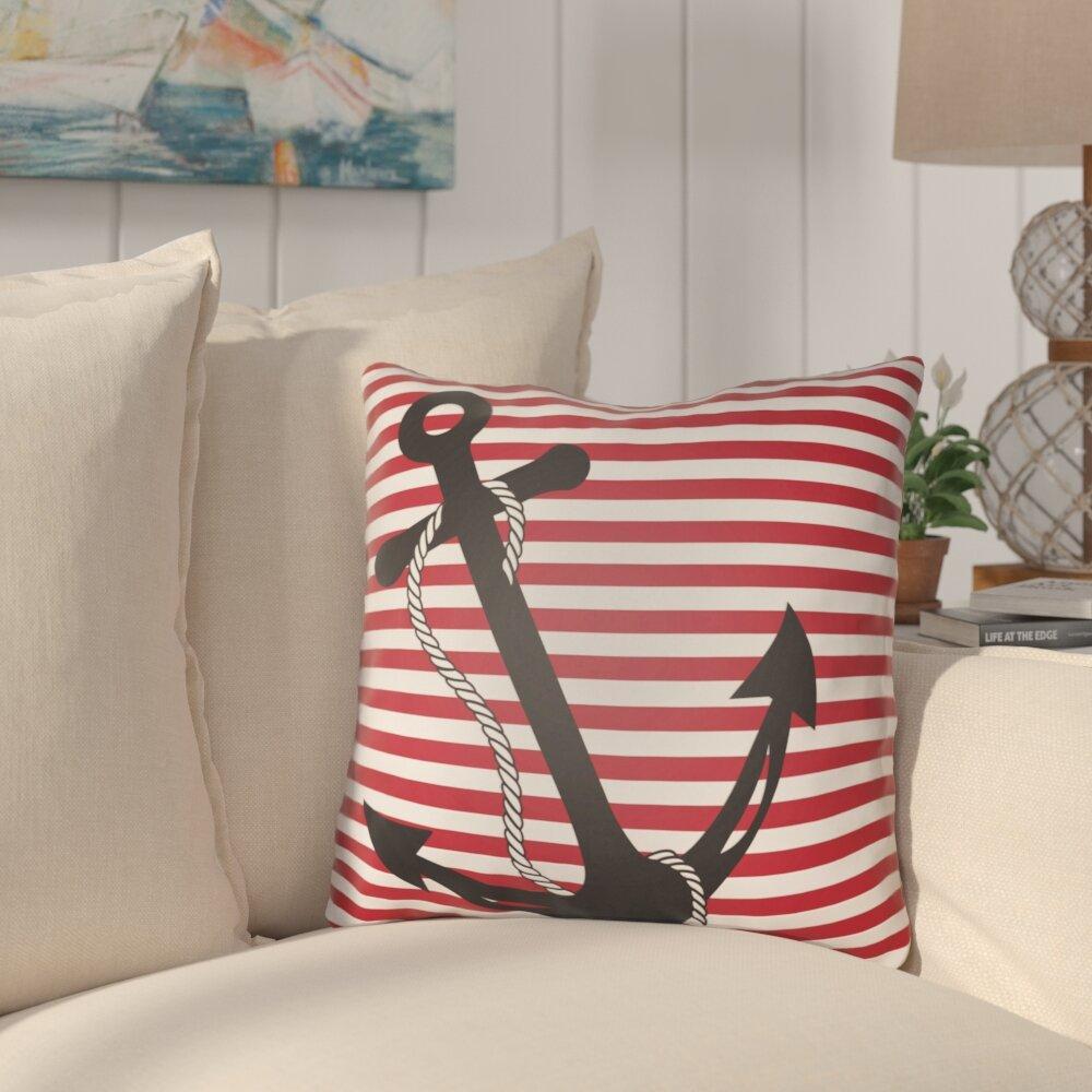 Beachcrest Home Daina Anchor Indoor/Outdoor Pillow Cover U0026 Reviews | Wayfair