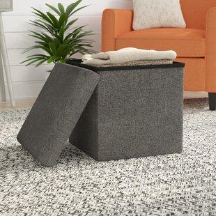 Zosia Foldable Storage Foot Stool Cube Ottoman & Sanford Storage Ottoman   Wayfair