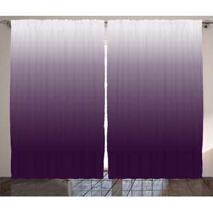 edb04b418209 Cooksey Ombre Gradient Harmony of Trendy Vivid Colors Themed Modern Design  Artwork Graphic Print & Text Semi-Sheer Rod Pocket Curtain Panels (Set of 2)