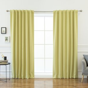 cora room darkening thermal blackout curtain panels set of 2