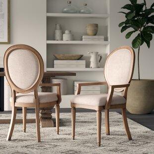 Tekamah Upholstered Arm Chair (Set of 2)