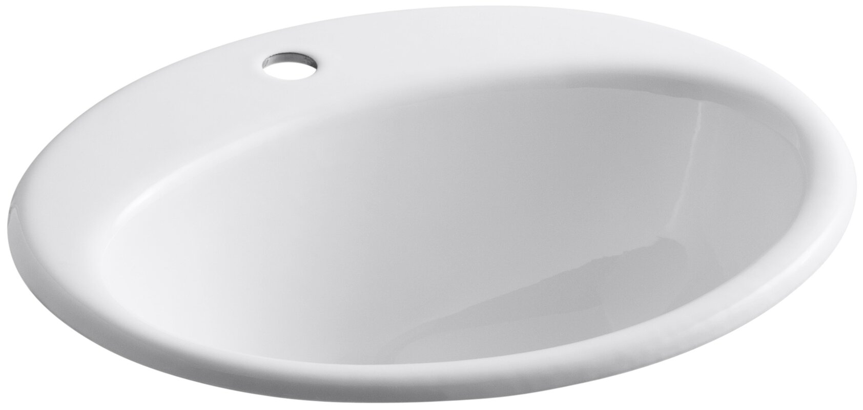 Farmington Metal Oval Drop-In Bathroom Sink with Overflow