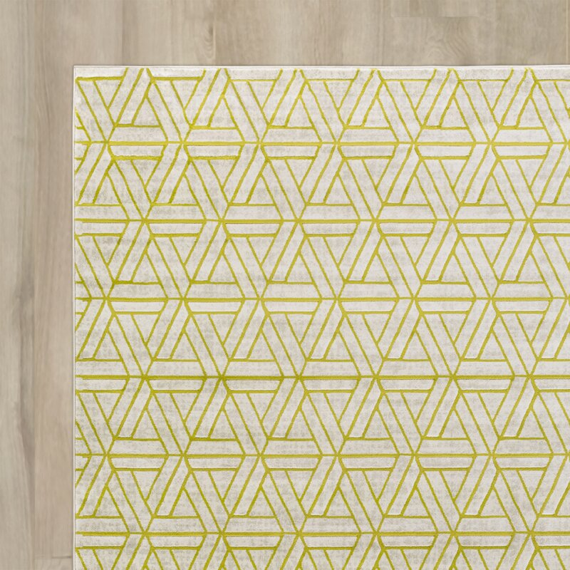 Lime Green Grey Area Rug: Ginsberg Light Gray/Lime Area Rug & Reviews