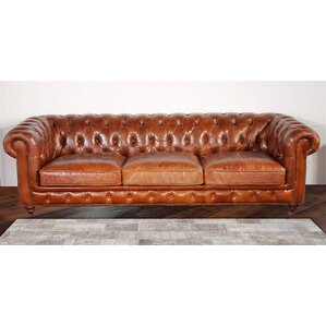 Chester Bay Tufted Genuine Leather Che..