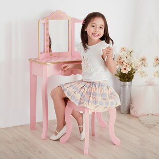 Shauna Kids Dressing Table Set with Mirror by Zoomie Kids
