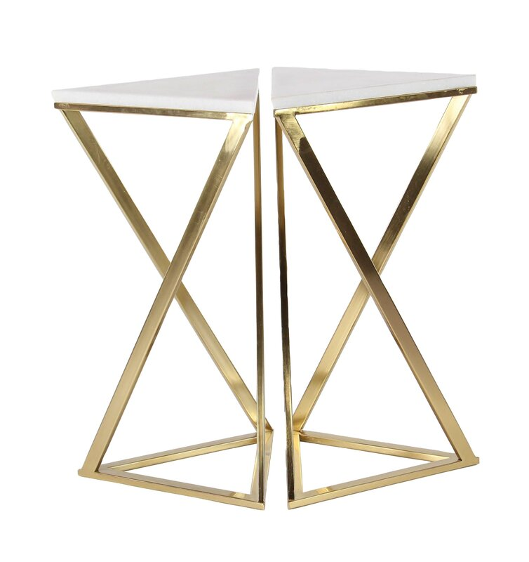 Everly Quinn Kierstyn and Marble Hour 2 Pieced Tables Set & Reviews ...