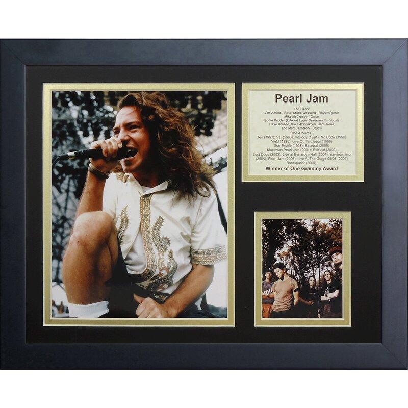 Legends Never Die Pearl Jam Framed Memorabilia Wayfair