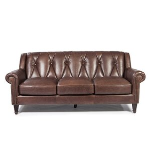 Lucas Leather Sofa by Williston Forge
