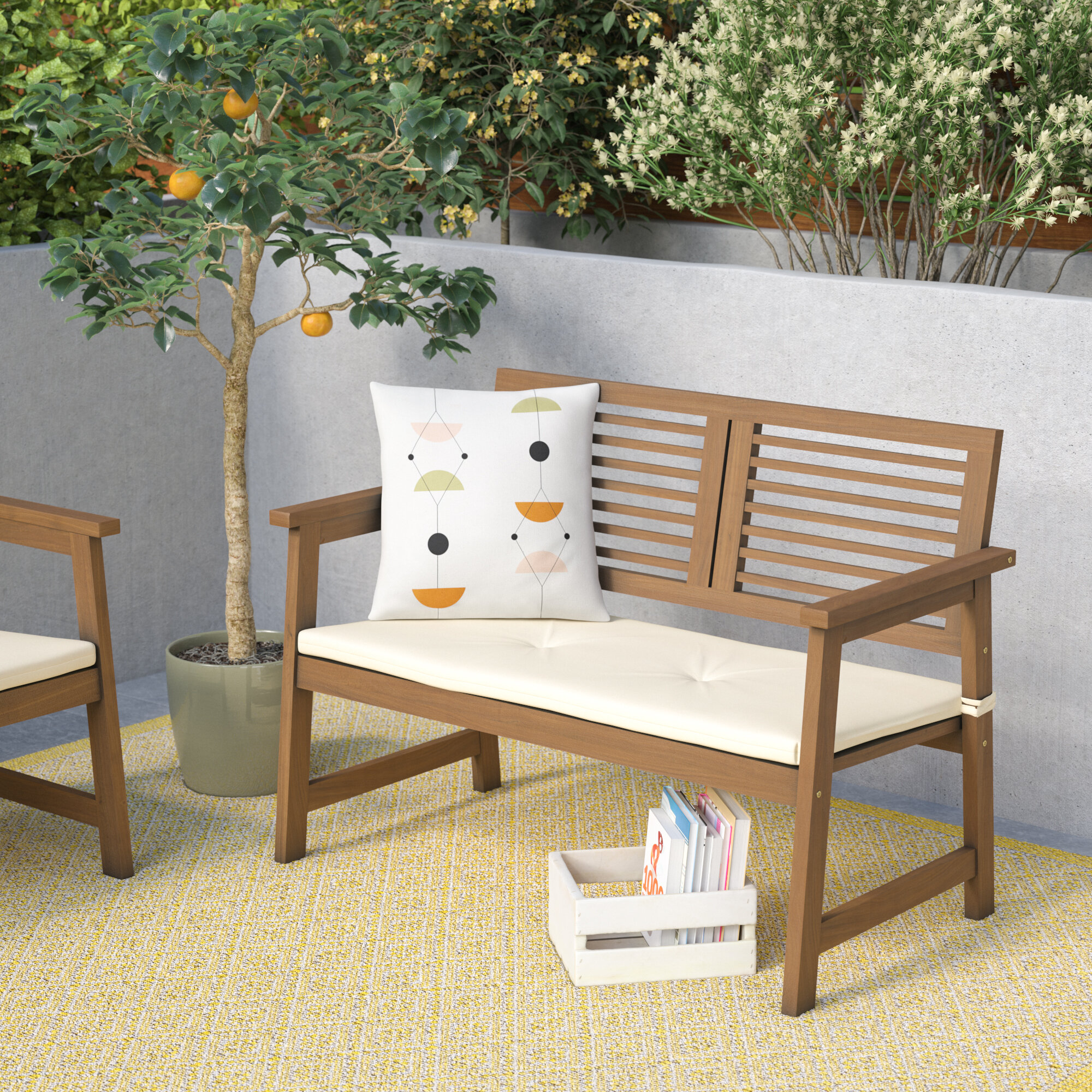 table and en picnic us umbrella with cushions d set navy stripes outdoor white bench