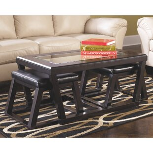 Parodi Coffee Table With 2 Nested Stool Set Of 3