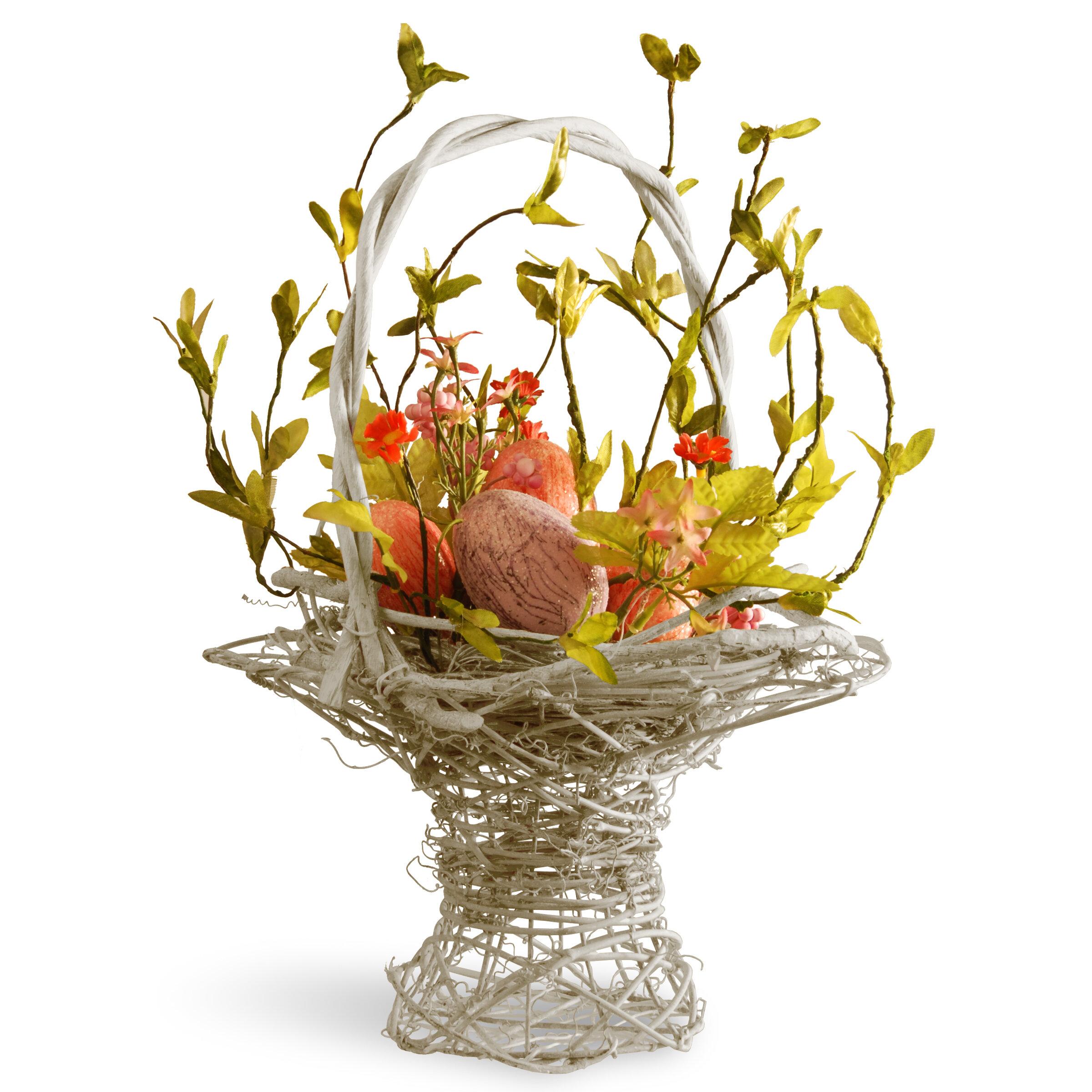 national tree co easter basket flower arrangements with egg