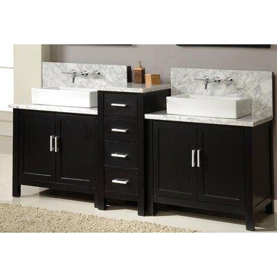 "direct vanity sink horizon 84"" double premium bathroom vanity set"