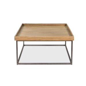 Square Tray Coffee Table with Tray Top by Sarreid Ltd