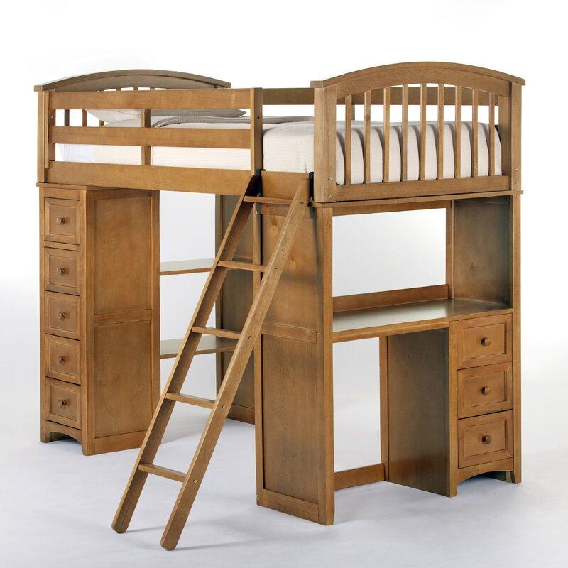 Loft Bed Images harriet bee javin student loft bed & reviews   wayfair