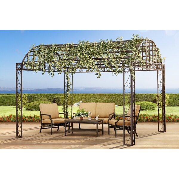 Garden Furniture Gazebo sunjoy siesta garden 10 ft. w x 12 ft. d metal pop-up gazebo