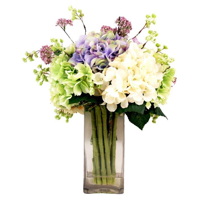 Faux hydrangea and lavender arrangement reviews joss