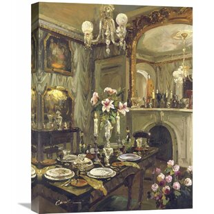 The Dining Room By Foxwell Painting On Wred Canvas
