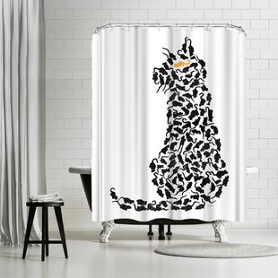 NDTank Cat And Mouse Single Shower Curtain