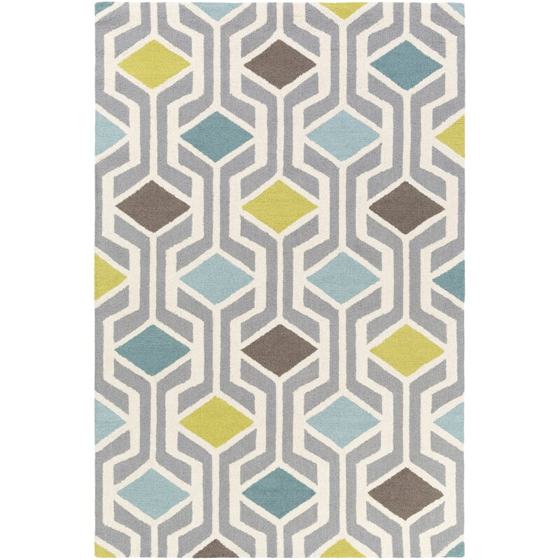 Younkin Hand-Crafted Teal/Aqua Area Rug & Reviews