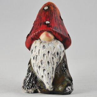 Garden Mushroom Gnome Ken Sculpture