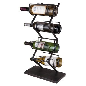 Iron 4 Bottle Tabletop Wine Rack by Foreside Home & Garden