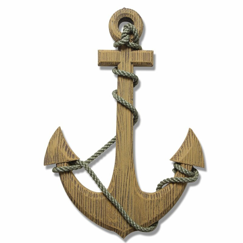 Nautical Wood Anchor Wall Decor