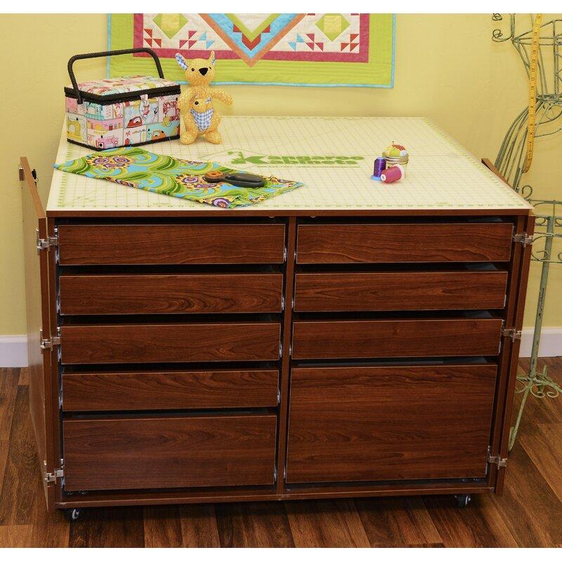 Kangaroo Kabinets Dingo Ii Nine Drawer Storage Craft Table