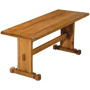 Sedona Wood Trestle Bench by Just Cabi..