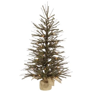 3 greenbrown pine trees artificial christmas tree