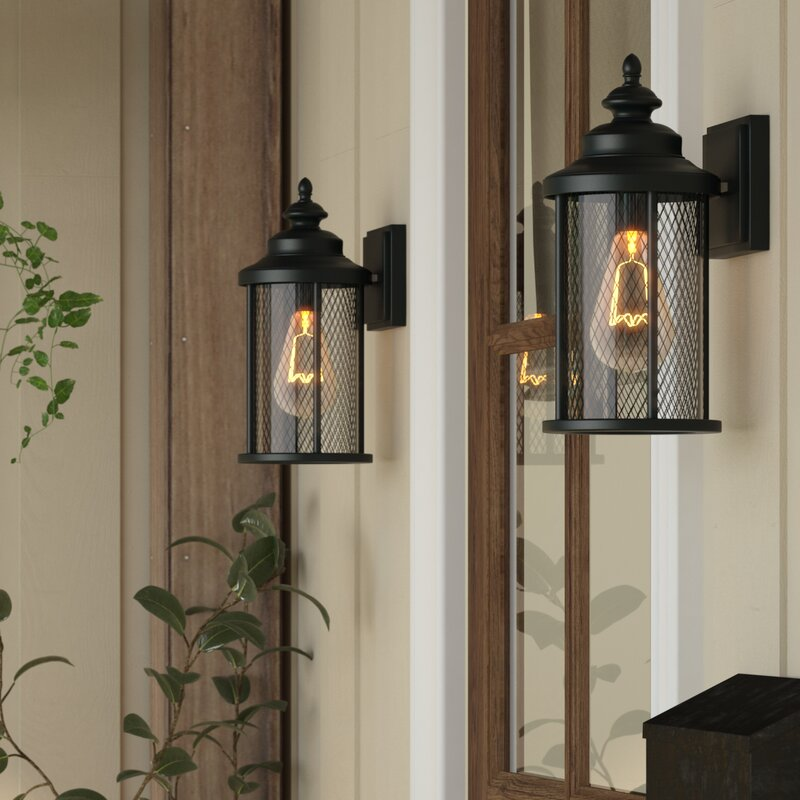 Laurel Foundry Modern Farmhouse Delilah 1-Light Outdoor Wall Lantern ...