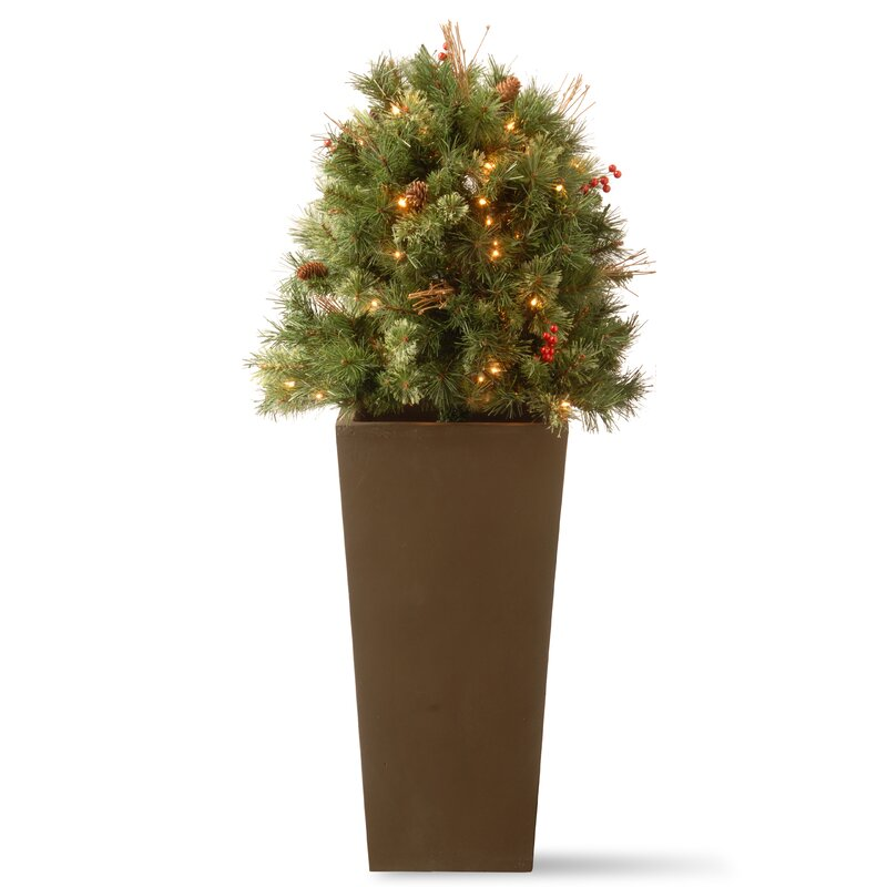 glistening porch bush 4 pine artificial christmas tree - 4 Christmas Tree