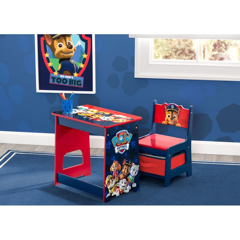 Delta Children Nick Jr Paw Patrol Kids 2 Piece Activity Table And