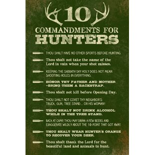 Commandments For Hunter Textual Art