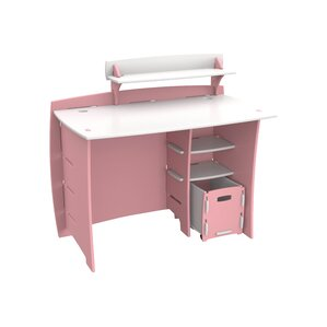 Culley Computer Desk with Accessory Shelves & File Cart by Harriet Bee