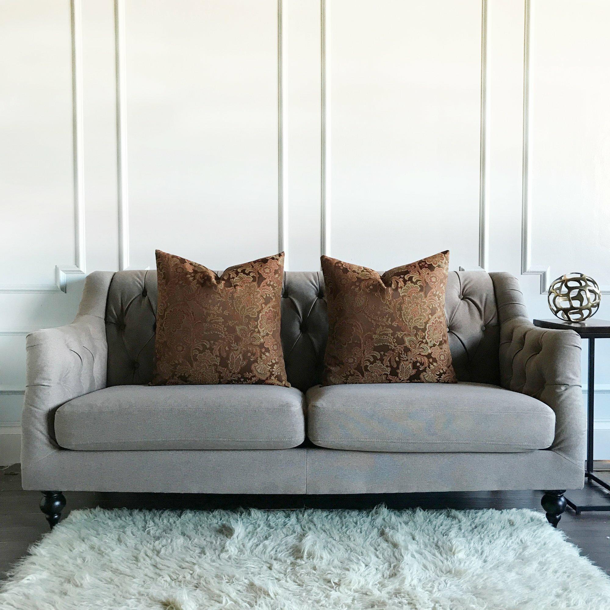 Fleur De Lis Living Chabot Floral Jacquard Luxury Woven Decorative Pillow Cover