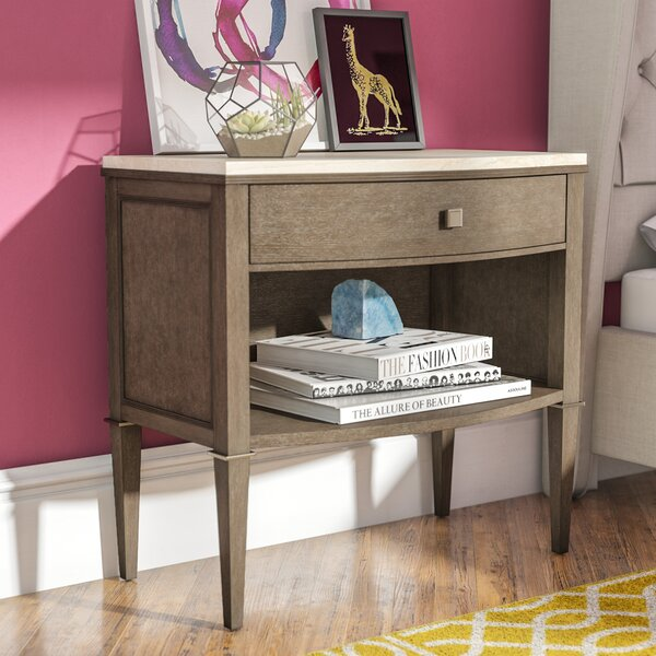 Everly Quinn Albright 1 Drawer Nightstand Amp Reviews Wayfair