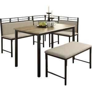 corner dining room furniture. Moonachie Corner 3 Piece Dining Set Room Furniture