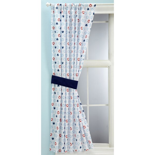 Disney Mickey Mouse Graphic Print U0026 Text Semi Sheer Rod Pocket Single  Curtain Panel U0026 Reviews | Wayfair