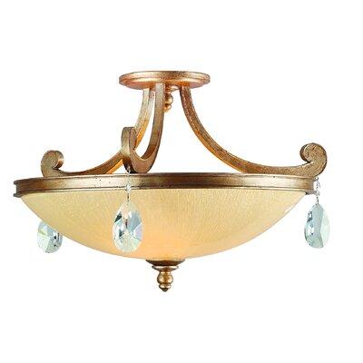Cyra 3 light semi flush mount