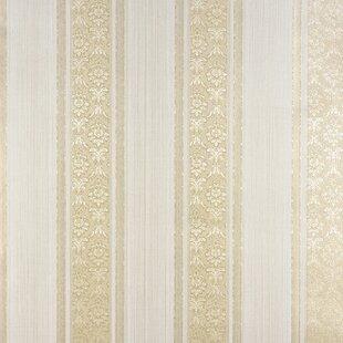 Gold Stripe Wallpaper Youll Love Wayfair
