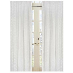 Eyelet Nature/Floral Semi-Sheer Rod pocket Curtain Panels (Set of 2)