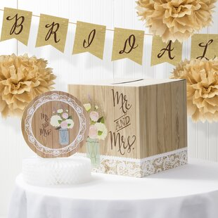 rustic wedding bridal shower decorations kit