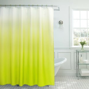 Hallstead Waffle Fabric Weave Single Shower Curtain